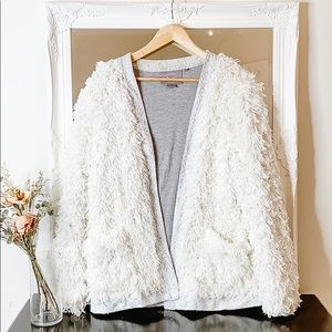 Holiday Sparkle Teddy Bear Coat - Cream White